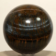 "2.3"" Natural Blue Tiger's Eye Sphere Chatoyant Hawk's Eye Crystal Mineral Africa"