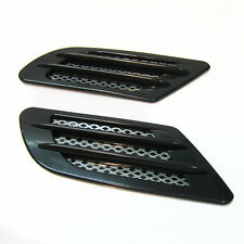 2x Black Wing Air Side Vent Trim Intake Fender Cover Duct Flow Grille Sticker