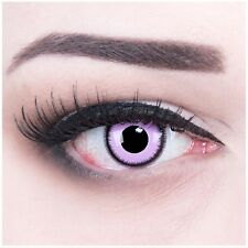 Coloured Contact Lenses Purple Lunatic Contacts Color Halloween + Free Case