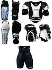Junior Large Equipment Pants Gloves Shin Elbow Shoulder Ice Hockey Set Kit New