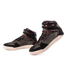 RRP €220 DIESEL Size 43 UK 9 S-SEYENE High Top Trainers With Leather From POPPRI