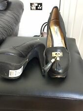 New Look Leather Platform Shoes Size 4
