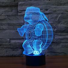 3D Lamp USB LED Lights Vision Touch Control Nightlight Colorful Turtle Shape