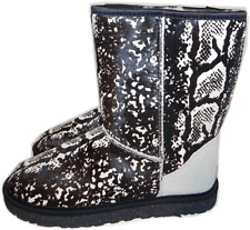 $250 UGG Australia Classic short Boot Pony hair Fur Lined Shoe 7 Snake Print 38