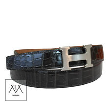 Hermes Belt 32mm Size 100 Men's Gris Fonce Grey Black Crocodile