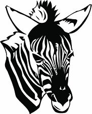 Zebra left side vinyl wall decal