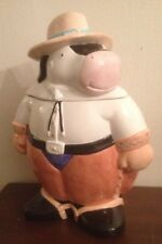 """CERAMIC POTTERY COCO DOWLEY COW """"MOOVER"""" COOKIE JAR-CERTIFIED INTERNATIONAL CORP"""