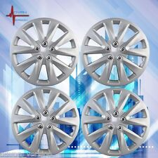 """4pc Hub Cap ABS Silver 15"""" Inch Rim Wheel Skin Cover For Toyota Camry"""