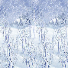 40ft Christmas Scene Setter Frozen Winter Wonderland Room Roll Party Decoration