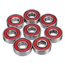 10x Rodamientos Bolas DIN ABEC-5 608-2RS Rodillos Cojinete Rueda Longboard