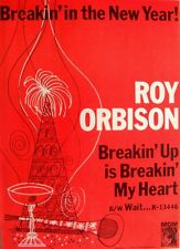 ROY ORBISON 1966 Poster Ad BREAKING UP IS BREAKING MY HEART