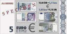 Euro-test note 5 euros/10 DM (2001)