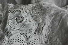 PRETTY  ANTIQUE VICTORIAN EDWARDIAN TOP 10/12 FINE LACE WORK VGC