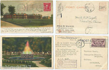 LOT 2 CPA postcard Fountain Fort Brady Lansing Sault Ste Marie MICHIGAN USA 219A