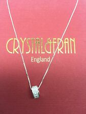 18ct White Gold Over 925 Sterling Silver Necklace And Pendant(Jewellery Boxed)
