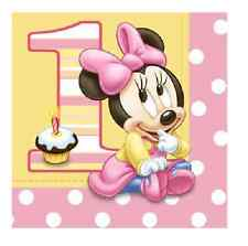 Minnie Mouse 1st / First Birthday Lunch Napkins, pack of 16