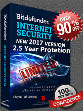 Bitdefender Internet Security 2017 | 2.5 year/ 3 pc | ESD Download | Key | NO CD
