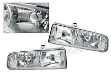 Clear Chrome Headlights Head Lamps For 1998-2004 Chevy Chevrolet S10 Blazer