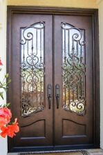 """Hand-Crafted 72"""" X 96"""" Wrought Iron Entry Doors - $3,485  (All in 12 Gauge Iron)"""