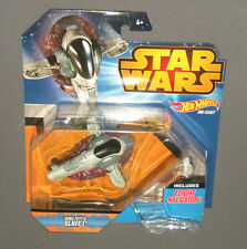 Star Wars Boba Fett's Slave I Hot Wheels Vehicle Die Cast w Flight Navigator