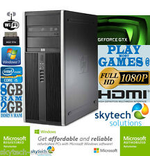 Fast HP Gaming Computer Core i5 8GB 2GB nVidia Geforce GTX 750 Ti Cheap PC SSD