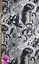 1401224- Alexander Henry After Dark Cream Victorian Gothic Skulls By The Yard
