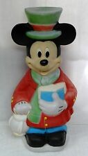 """34"""" Disney Santas Best Mickey Mouse Lighted Christmas Outdoor Blow Mold Yard"""