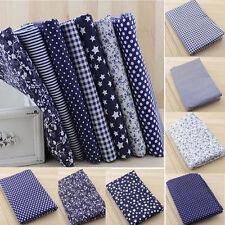 7pcs Bundle 100% Cotton Fabric Cotton Floral Gingham DIY Quilt Sewing Patchwork