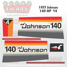 1977 Johnson 140 HP V4 Seahorse Outboard Reproduction 15 Pc Marine Vinyl Decals