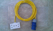 CAMPING / CARAVAN 5M ELECTRIC HOOK UP 16A to 13A BRIGHT YELLOW ARCTIC CABLE 2g