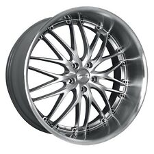 18 inch Staggered MRR Design GT1 silver/machined lip wheels rims 5x120 +38