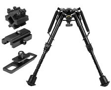 """Harris Style Compact Bi-Pod 6"""" - 9"""" Notched Legs w/ 3 Adapters For Air Rifle"""