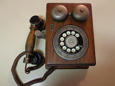 Vintage Western Electric Country Junction Wall Telephone Wood Rotary Old Style