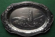 c1900 Art Nouveau Silvered Pewter Alloy Colorado Springs Card / Pin Tray