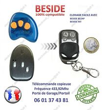 TELECOMMANDE CLONE BESIDE, BEZAP, HIT 433,92Mhz Portail Garage