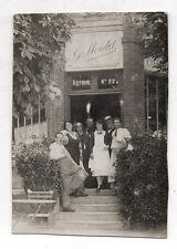 PHOTO ANCIENNE - Groupe Boutique Magasin Devanture Téléphone G. Mondet Vers 1910