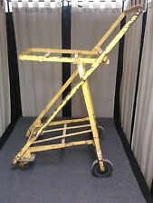 VINTAGE GROCERY Shopping METAL rolling TROLLEY Serving Bar CART