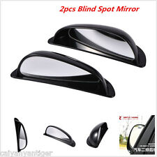 Car Black Shell Wide Angle Left Rear View Blind Spot Mirror Auxiliary Mirrors ×2