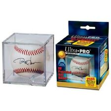 (1) ULTRA PRO BASEBALL Display Case Clear Square UV Holder Acrylic w/ STAND