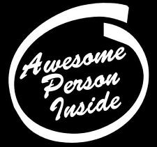 Awesome Person Inside White Sticker Car Honda City Amaze Jazz Brio Accord Civic