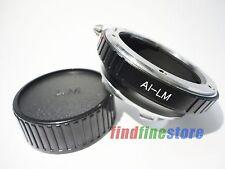 Nikon AI F Lens to Leica M LM M9 M8 M7 M6 M5 M4 M3 MP M9-P M240 adapter + CAP