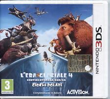 L'ERA GLACIALE 4 Continenti alla deriva 3DS NUOVO ORIGINALE ITALIANO