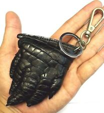 Keychains Keyrings Crocodile Foot Claw Skin Leather Black Men's Accessories