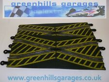 Greenhills Scalextric Classic Track Crossover Pair Yellow Markings C182