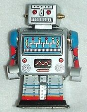"ROBOT ORIGINAL ALL METAL TIN WIND-UP LastOne! SCI-FI MINTnBox 3.5""Tall HAS BRASS"