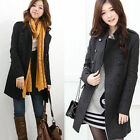 Fashion Womens Warm Double-Breasted Slim Winter Lady Trench Coat Jacket Overcoat