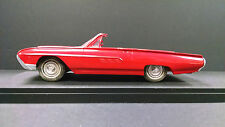 1963 Ford Thunderbird Red convertible friction plastic promo model car  exc