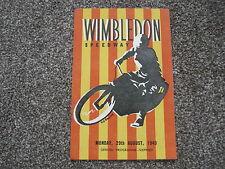 WIMBLEDON v NEW CROSS 29/8/49 speedway programme