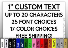 """1"""" CUSTOM VINYL LETTERING/TEXT - Personalized Wall, Window, Car Sticker Decal"""