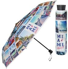 Perletti Brillante Miami Beach City Paraguas Plegable Compacto brollie Regalo manual